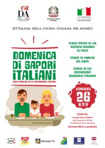 Afiche Domenica di sapori italiani